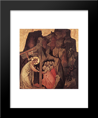 Descent Into Limbo: Modern Black Framed Art Print by Giotto