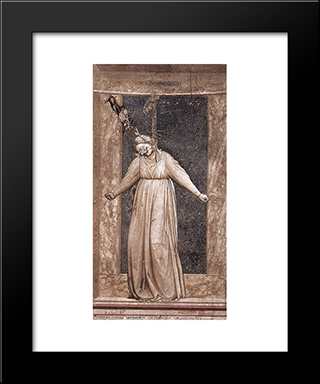 Desperation: Modern Black Framed Art Print by Giotto