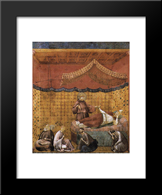 Dream Of St. Gregory: Modern Black Framed Art Print by Giotto