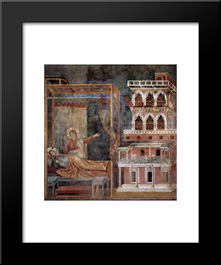 Dream Of The Palace: Modern Black Framed Art Print by Giotto