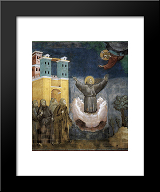 Ecstasy Of St. Francis: Modern Black Framed Art Print by Giotto