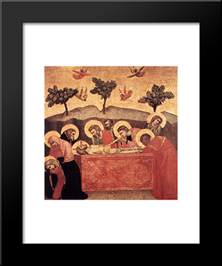 Entombment: Modern Black Framed Art Print by Giotto