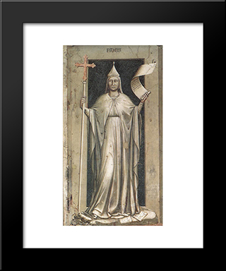 Faith: Modern Black Framed Art Print by Giotto