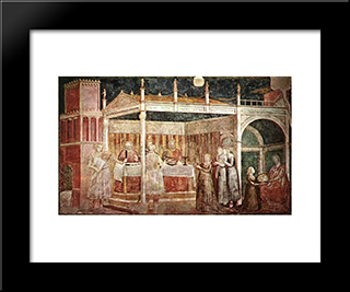 Feast Of Herod: Modern Black Framed Art Print by Giotto