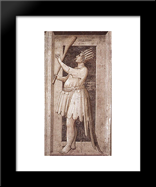 Foolishness: Modern Black Framed Art Print by Giotto