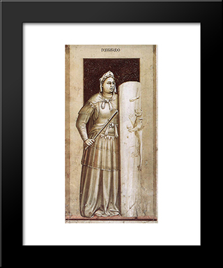 Fortitude: Modern Black Framed Art Print by Giotto