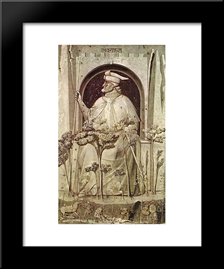 Injustice: Modern Black Framed Art Print by Giotto