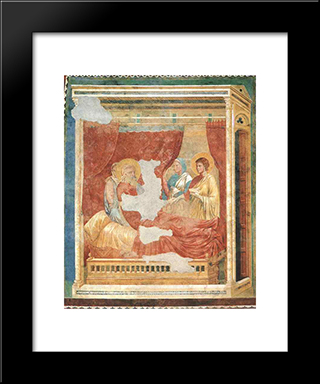 Isaac Blessing Jacob: Modern Black Framed Art Print by Giotto