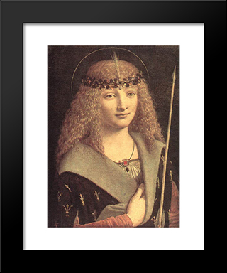Saint Sebastian: Modern Black Framed Art Print by Giovanni Antonio Boltraffio