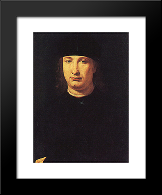 The Poet Casio: Modern Black Framed Art Print by Giovanni Antonio Boltraffio