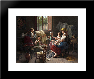 Blowing Bubbles: Modern Black Framed Art Print by Giovanni Battista Torriglia