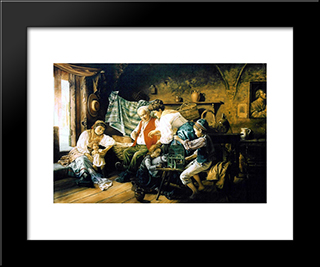 Family Games: Modern Black Framed Art Print by Giovanni Battista Torriglia