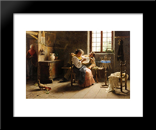 Flirtation: Modern Black Framed Art Print by Giovanni Battista Torriglia