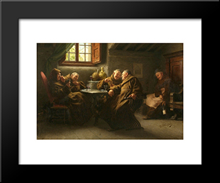 Holding All The Trumps: Modern Black Framed Art Print by Giovanni Battista Torriglia