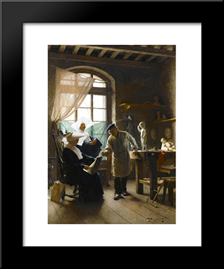 In The Artist'S Studio: Modern Black Framed Art Print by Giovanni Battista Torriglia