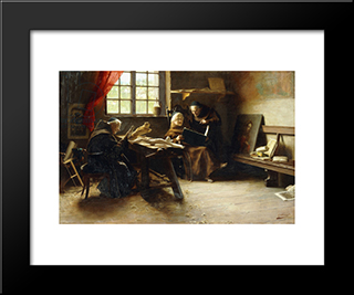 In The Sculptor'S Studio (Divine Inspiration): Modern Black Framed Art Print by Giovanni Battista Torriglia