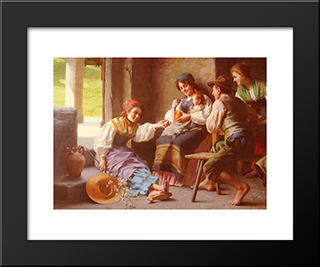 Play ­Time: Custom Black Wood Framed Art Print by Giovanni Battista Torriglia