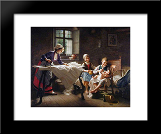 The Centre Of Attention: Modern Black Framed Art Print by Giovanni Battista Torriglia