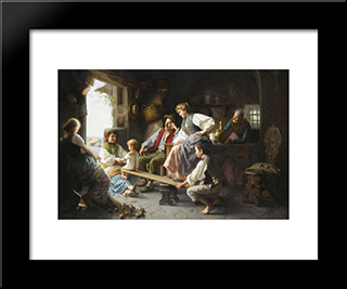 The See-Saw: Modern Black Framed Art Print by Giovanni Battista Torriglia