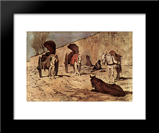 Carri Romani: Modern Black Framed Art Print by Giovanni Fattori