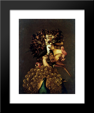 Air: Modern Black Framed Art Print by Giuseppe Arcimboldo