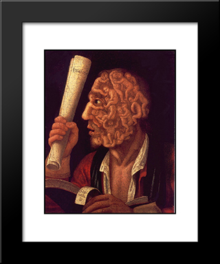 Portrait Of Adam: Modern Black Framed Art Print by Giuseppe Arcimboldo