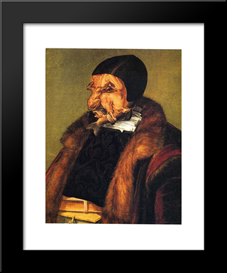 The Lawyer: Modern Black Framed Art Print by Giuseppe Arcimboldo