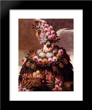 The Seasons: Modern Black Framed Art Print by Giuseppe Arcimboldo
