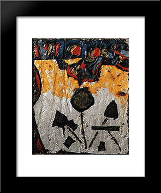 Nocturnal Flowers: Modern Black Framed Art Print by Giuseppe Pinot Gallizio
