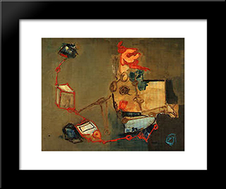 The Extinguished Spider: Modern Black Framed Art Print by Giuseppe Pinot Gallizio