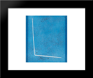 Blue Space: Modern Black Framed Art Print by Giuseppe Santomaso