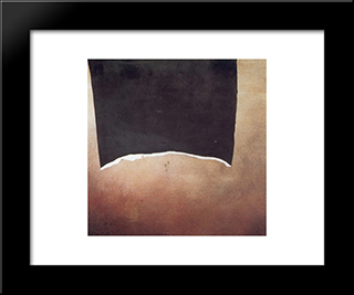 Impedimento Neo: Modern Black Framed Art Print by Giuseppe Santomaso