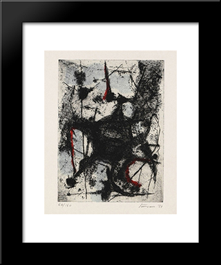 Incanto: Modern Black Framed Art Print by Giuseppe Santomaso