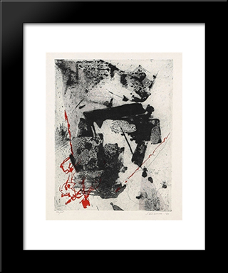 Komposition: Modern Black Framed Art Print by Giuseppe Santomaso
