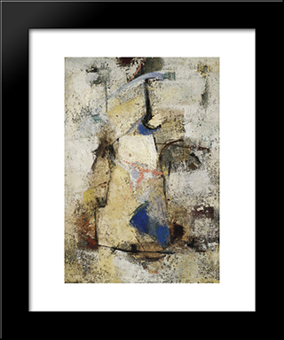 Secret Life (Vita Segreta): Modern Black Framed Art Print by Giuseppe Santomaso