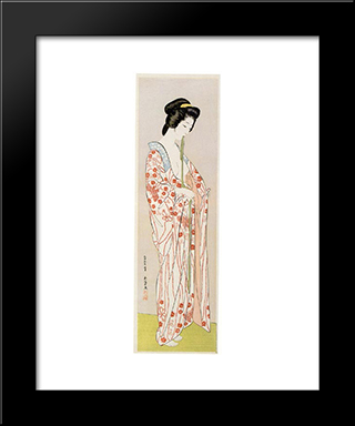 Beauty In Long Undergarment: Modern Black Framed Art Print by Goyo Hashiguchi