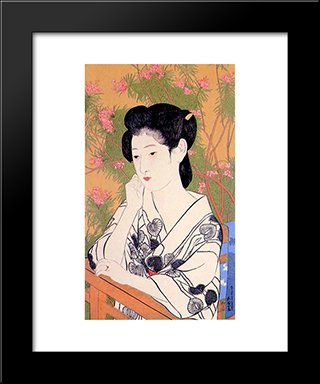 Hot Spring Hotel: Modern Black Framed Art Print by Goyo Hashiguchi
