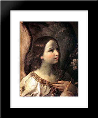 Angel Of The Annunciation: Modern Black Framed Art Print by Guido Reni
