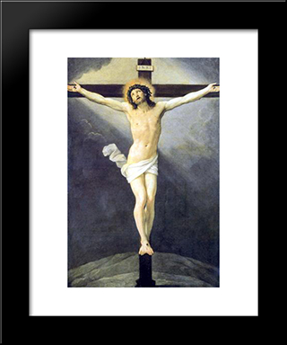 Crucifixion: Modern Black Framed Art Print by Guido Reni
