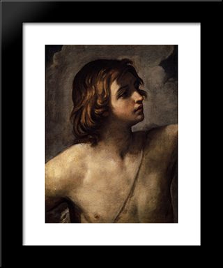 David: Modern Black Framed Art Print by Guido Reni
