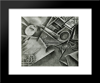 Dynamic Perspective Of A Room Awakening: Modern Black Framed Art Print by Guilherme de Santa Rita