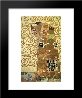 Cartoon For The Frieze Of The Villa Stoclet In Brussels Fulfillment: Modern Black Framed Art Print by Gustav Klimt