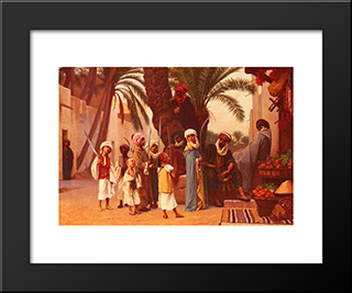 A Tale Of 1001 Nights: Modern Black Framed Art Print by Gustave Boulanger
