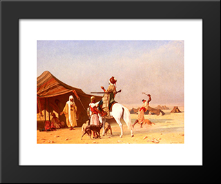 It'S The Emir: Modern Black Framed Art Print by Gustave Boulanger
