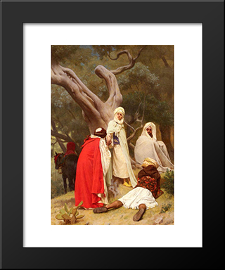 Reception Of An Emir: Modern Black Framed Art Print by Gustave Boulanger