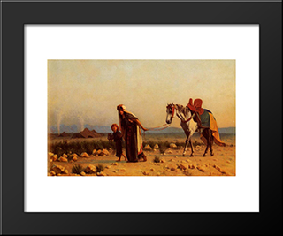 The Return: Modern Black Framed Art Print by Gustave Boulanger