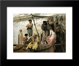 The Slave Market: Modern Black Framed Art Print by Gustave Boulanger