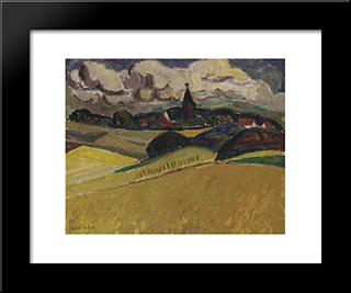 A View Of Blaricum: Modern Black Framed Art Print by Gustave de Smet