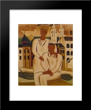 The Young Captain: Modern Black Framed Art Print by Gustave de Smet