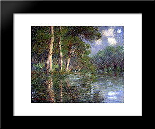 A Bend In The Eure: Modern Black Framed Art Print by Gustave Loiseau